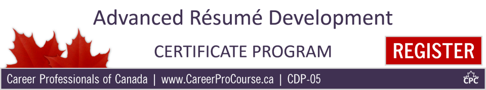 cdp-05 - advanced resume development  certificate program