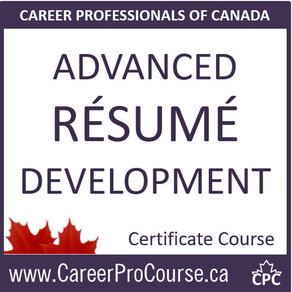 CDP Advanced Résumé Development