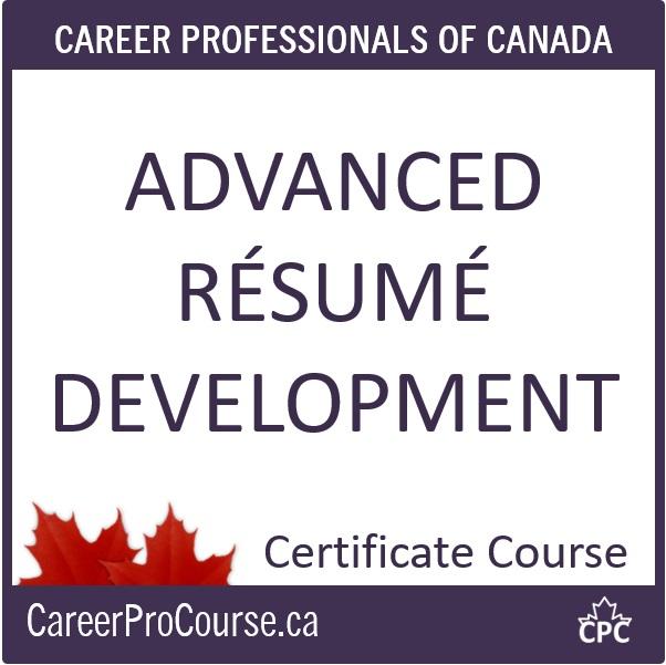 CDP Advanced Résumé Development